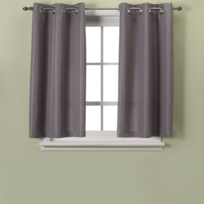 HooklessR Waffle 45 Inch Window Curtain In Grey