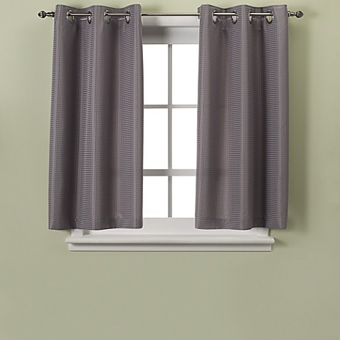 curtains for small windows hookless 174 waffle 45 inch bath window curtain bed bath 30934