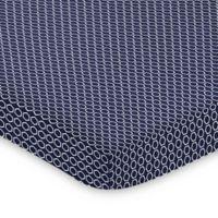 Sweet Jojo Designs Arrow Hexagon Mini Crib Sheet in Navy