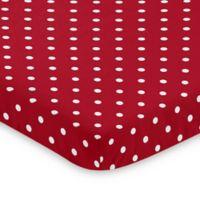 Sweet Jojo Designs Polka Dot Ladybug Mini Crib Sheet
