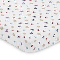 Sweet Jojo Designs Nautical Nights Mini Crib Sheet