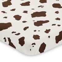 Sweet Jojo Designs Wild West Cow Print Mini Crib Sheet