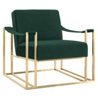 Tov Furniture™ Velvet Upholstered Baxter Chair in Forest Green