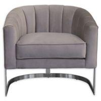 Armen Living® Wood/metal Upholstered Paloma Chair in Beige