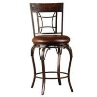 "Hillsdale Furniture Vinyl Swivel Granada 46"" Bar Stool in Chestnut"