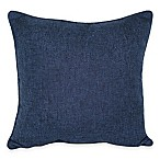 Jasper Square Throw Pillow in Navy