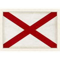Alabama Textured State Flag 34-Inch x 24-Inch Framed Wall Art