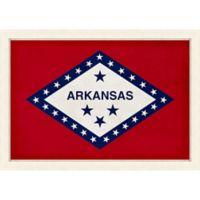Arkansas Textured State Flag 34-Inch x 24-Inch Framed Wall Art