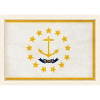 Rhode Island Textured State Flag 34-Inch x 24-Inch Framed Wall Art