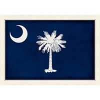 South Carolina Textured State Flag 34-Inch x 24-Inch Framed Wall Art