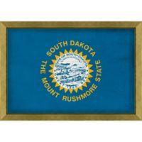 South Dakota Textured State Flag 34-Inch x 24-Inch Framed Wall Art