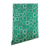 Deny Designs Sharon Turner Picture Frames 2-Foot x 8-Foot Peel and Stick Wallpaper in Green