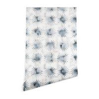 Deny Designs Schatzi Brown Aviana Starburst 2-Foot x 10-Foot Wallpaper in Blue