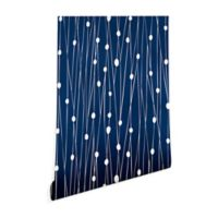 Deny Designs Heather Dutton Entangled 2-Foot x 8-Foot Wallpaper in Navy