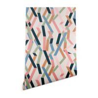 Deny Designs Mareike Boehmer Straight Geometry Ribbon 2-Foot x 10-Foot Wallpaper in Beige