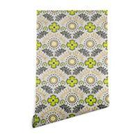 Deny Designs Holli Zollinger Floral Brocade 2-Foot x 10-Foot Wallpaper in Beige