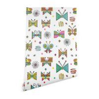 Deny Designs Andi Bird Butterfly Joy 2-Foot x 10-Foot Wallpaper in White