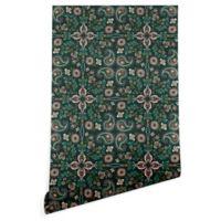 Deny Designs Pimlada Phuapradit Maze 2-Foot x 10-Foot Wallpaper in Emerald