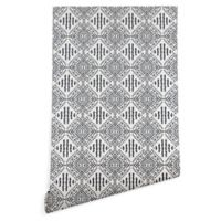 Deny Designs Holli Zollinger Carribe 2-Foot x 8-Foot Wallpaper in Black