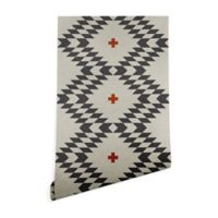 Deny Designs Holli Zollinger Native Natural Plus 2-Foot x 8-Foot Wallpaper in Grey