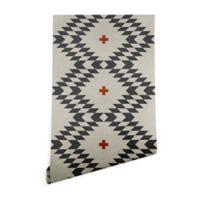 Deny Designs Holli Zollinger Native Natural Plus 2-Foot x 10-Foot Wallpaper in Grey
