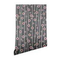 Deny Designs Heather Dutton Berry Branch 2-Foot x 10-Foot Wallpaper in Grey