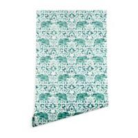 Deny Designs Jacqueline Maldonado Elephant 2-Foot x 10-Foot Wallpaper in Green