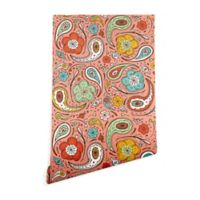 Deny Designs Heather Dutton Adora Paisley 2-Foot x 8-Foot Wallpaper in Pink