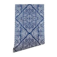 Deny Designs Marta Barragan Camarasa 2-Foot x 8-Foot Wallpaper in Indigo