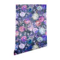 Deny Designs Schatzi Brown Gillian Floral 2-Foot x 4-Foot Wallpaper in Grey