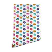 Deny Designs Andi Bird Monstrous Monsters 2-Foot x 10-Foot Wallpaper in White