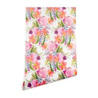 Deny Designs Ninola Design Flowers Sweet Bloom 2-Foot x 8-Foot Wallpaper in Pink