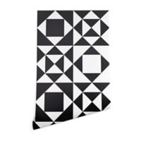 Deny Designs Heather Dutton Rhythm 2-Foot x 8-Foot Wallpaper in Black