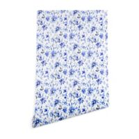 Deny Designs Schatzi Brown Lovely Floral 2-Foot x 10-Foot Peel and Stick Wallpaper