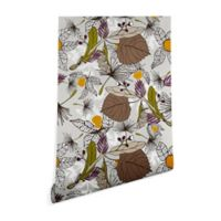 Deny Designs Marta Barragan Camarasa Fruit 2-Foot x 4-Foot Wallpaper in Grey