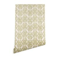 Deny Designs Schatzi Brown Justina Criss Cross 2-Foot x 8-Foot Peel and Stick Wallpaper