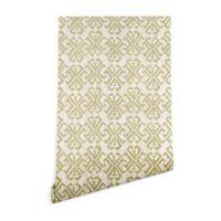 Deny Designs Schatzi Brown Justina Criss Cross 2-Foot x 10-Foot Peel and Stick Wallpaper