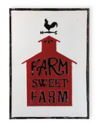 Boston International Farm Sweet Fresh Metal Sign