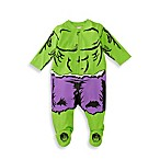 Marvel® Size 3-6M Hulk Coverall in Green