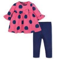 Gerber® Newborn 2-Piece Spots Dress and Legging Set in Pink/Blue