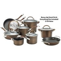 Circulon® Symmetry™ Nonstick Hard-Anodized 11-Piece Cookware Set in Chocolate