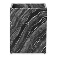 Pantera Marble Wastebasket in Black