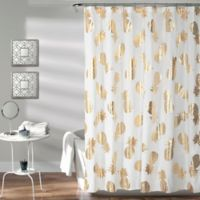 Pineapple Toss Shower Curtain in Gold