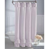 Wamsutta® Vintage Ruffle 54-Inch x 78-Inch Shower Curtain in Lavender