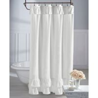 Wamsutta® Vintage Ruffle 54-Inch x 78-Inch Shower Curtain in White