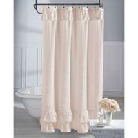 Wamsutta® Vintage Ruffle 72-Inch x 84-Inch Shower Curtain in Blush