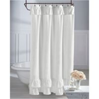 Wamsutta® Vintage Ruffle 72-Inch x 84-Inch Shower Curtain in White