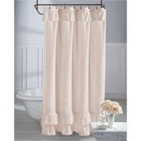 Wamsutta® Vintage Ruffle 72-Inch x 96-Inch Shower Curtain in Blush
