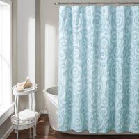 Keila 72-Inch x 84-Inch Shower Curtain in Blue