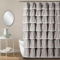 Emily 54-Inch x 78-Inch Shower Curtain in Grey
